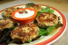 Black Eyed Pea Corn Cakes with Spicy Sour Cream : diabeticfoodie ~great use of leftover cornbread and black-eyed peas ~cm