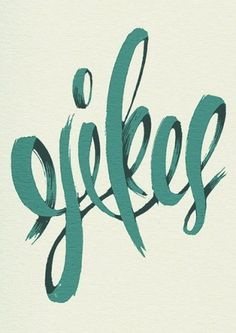 I like how this is 'painted' and the colour. LOVE.  Typeverything.com  Yikes poster by Michael..