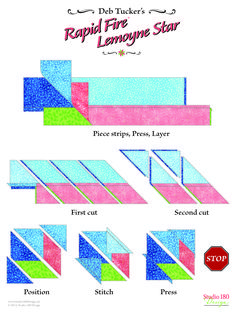 Quilting Rulers, Quilting Tips, Quilting Tutorials, Quilting Projects, Quilting Designs, Star Quilt Patterns, Star Quilts, Easy Quilts, Patch Quilt