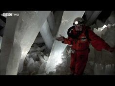 Amazing Crystal Cave , Naica the cave of giants. Short video of this berry hot temp cave.