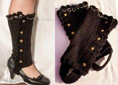 "Manda Nicole's Crochet Patterns: ""Heels to Boots"" Leggings crochet leg warmers, craft, boot, ruffl, heel, steampunk crochet patterns, box, crochet legwarmers pattern, yarn"
