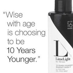 This makeup setting spray gives a flawless youthful finish! LimeLight by Alcone Independent Beauty Guide AllINeedIsMakeup.com