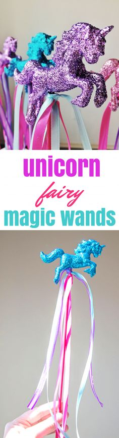DIY Fantasy Unicorn Fairy Magic Wand Centerpiece and Party Favors