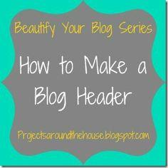 how to make a blog header