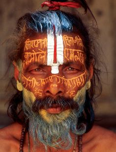 """Body Language: The Yogis of India and Nepal"" at the Rubin Museum of Art. Striking color photographs by Thomas L. Kelly capture extraordinary-looking male sadhus (as well as a female sadhvi), famously known as ascetics and yogis of South Asia.                                                                                                                                                     More"