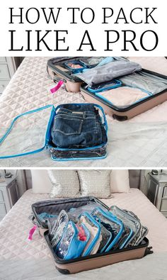 34 Packing Hacks For Make for The Best Trip Ever Packing Hacks for Travel - Packing an Organized Suitcase - How to Pack and Fold Clothes, Save Space in Suitcase - Tips and Tricks for Shoes, Makeup, Toiletries, Carry On Luggage for Trips Vacation Packing, Packing Tips For Travel, Travel Essentials, Packing Hacks, Packing Cubes, Packing A Suitcase, Travel Checklist, Europe Packing, Traveling Europe