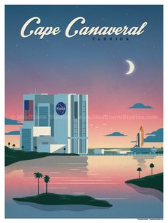 Cape Canaveral Poster by IdeaStorm Studios ©2017. Available for sale at ideastorm.bigcartel.com