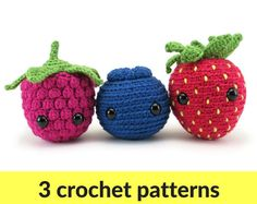 Berry Amigurumi patterns  pattern ebook strawberry