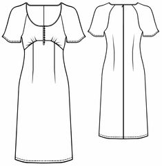 Dress - Sewing Pattern #5566. Made-to-measure sewing pattern from Lekala with free online download.
