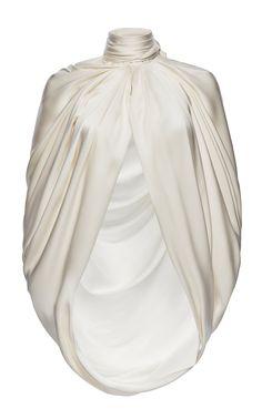 Magda Butrym Medford Scarf-detailed Draped Silk-satin Cape In White Look Fashion, Fashion Outfits, Fashion Design, Gothic Fashion, Fashion Details, Stylish Outfits, Cute Outfits, Magda Butrym, Silk Satin