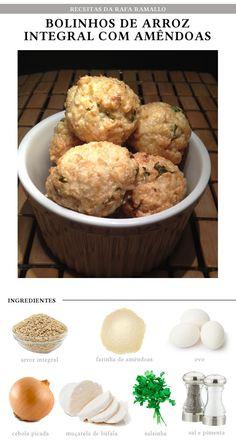 Fit Chef: Bolinho de arroz integral e amêndoas | CAROL BUFFARA
