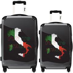 iKase 'Italian Flag Background' 2-piece Fashion Harside Spinner Luggage Set