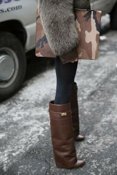 The Givenchy effect in brown. #streetstyle