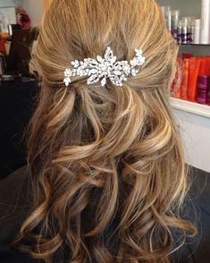Half up half down hairstyle #hairstyles
