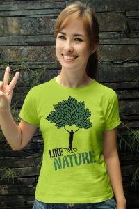 Simbolizando em uma estampa o significado de sermos a sustentação da natureza. Seu pilar e seu tronco.