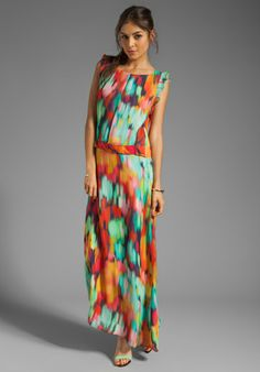 GRAHAM & SPENCER Maxi Dress in Sun Wash Watercolor at Revolve Clothing
