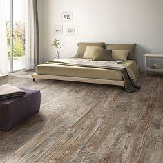 Wood Look tile Flooring - Daltile Season Wood in Orchard Grey Distressed Wood Floors, Grey Wood Floors, Wood Tile Floors, Grey Flooring, Plank Flooring, Hardwood Floors, Dark Hardwood, Weathered Wood, Flooring Ideas