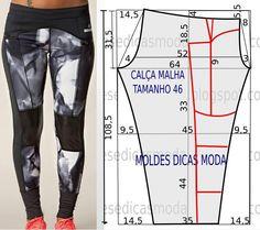 O molde de calça não tem valor de costura. Este molde de calça favorece todo o tipo de corpos. A publicação tem como objetivo ajudar quem não tem impressora