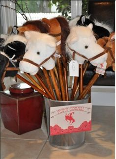 Great welcome gift idea for a kids cowboy themed party