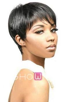 Cheap Short Straight Human Hair Lace Front Wig