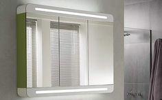 Armoire de toilette design tr vise de decotec avec 3 portes miroir double fac - Castorama armoire de toilette ...
