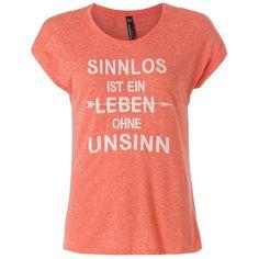 T-Shirt mit Sprüche-Druck rose XS | bei mister-lady.com