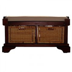 Lunenburg Two Basket Bench - Benches & Ottomans - Seating & Beds