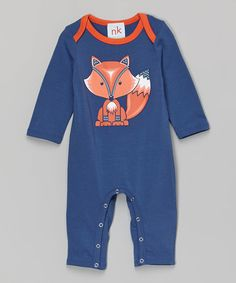 Look at this nktoo by Nohi Kids Navy Fox Playsuit - Infant on today! Cute Outfits For Kids, Baby Boy Outfits, Cute Kids, Baby Gaga, Baby Size, Beautiful Babies, Playsuit, Toddler Girl, Kids Fashion