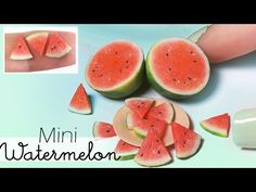 Simple Miniature Watermelon Tutorial // Dolls/Dollhouse DIY - YouTube