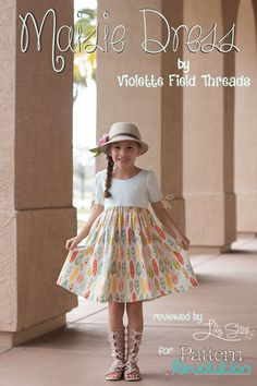 Maisie by Violette Field Threads — Pattern Revolution Source by Dresses Little Girl Dress Patterns, Kids Dress Patterns, Childrens Sewing Patterns, Little Girl Dresses, Girls Dresses, Baby Dresses, Pdf Patterns, Dress Girl, Toddler Girl Dresses