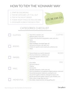 How to Tidy the KonMari Way | KonMari Checklist | Marie Kondo | Tidying Up