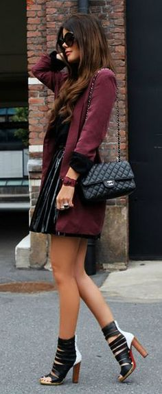 Burgundy and Black style
