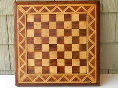 Vintage Marquetry / Wood Inlay Game Board