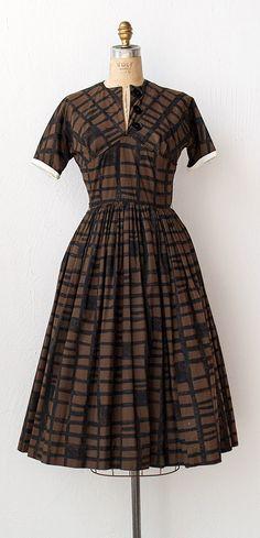 vintage 1950s dress | 50s dress | Variegate Blocks $148