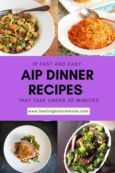 Dinner Recipes fast In need of a quick dinner recipe that takes less than 30 minutes? This list of A. In need of a quick dinner recipe that takes less than 30 minutes? This list of AIP Dinner Recipes is perfect if you& avoiding nightshades. Dieta Aip, Nightshade Free Recipes, Fast Dinner Recipes, Fast Meals, Healthy Dinners, Paleo Recipes, Savoury Recipes, Meal Recipes, Aip Diet