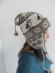 Amazing hat (chullo) with puffin pattern. Who doesn't love a puffin pattern? (or puffins) Ribbels' Shetland Chullo