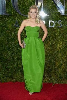 Annaleigh Ashford in a strapless green Zac Posen dress at the 2015 Tony Awards