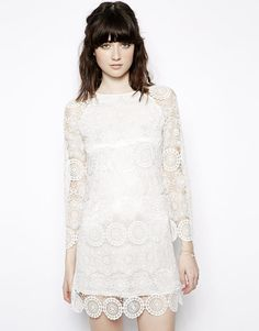 Nishe | Nishe Allover Lace Shift Dress at ASOS