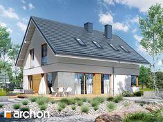 Projekt domu Dom pod hikorą 3 - ARCHON+ Outdoor Decor, Home Decor, Houses, Decoration Home, Room Decor, Home Interior Design, Home Decoration, Interior Design