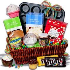 Baking themed basket.