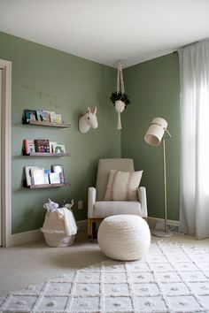 Exceptional baby nursery detail are offered on our internet site. Check it out and you wont be sorry you did. Light Green Nursery, Green Nursery Girl, Light Green Bedrooms, Green Kids Rooms, Light Green Walls, Bedroom Green, Baby Room Green, Pépinières Rose, Baby Room Boy