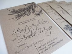 Printable/digital rustic wedding tree kraft wedding invitation; These would look great printed on our eco-friendly cardstock; a great Etsy collaboration!