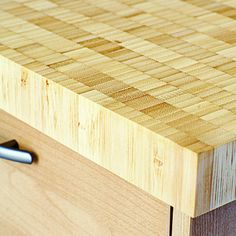 Eco-friendly Kitchen Countertops - Sunset.com endgrain bamboo counter