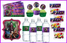 Descendants Party Set DIY - Go Party Fiesta