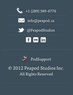 Mobile Footer - Peapod Studios