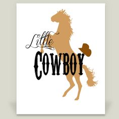 Little Cowboy Art Print by EricaKersey on BoomBoomPrints