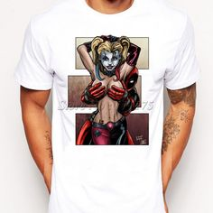 Custom Design Limited, DeadPool Novelty Sexy T-Shirt Bad Boy T-Shirt Handmade 100% Cotton Great Gift for the Man in your comic, this cool custom design Limited graphic T-Shirt has Bold Red color with