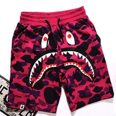 Bape Shark Shorts for Sale in Beverly Hills, CA - OfferUp Bape Outfits, Swag Outfits Men, Boy Fashion, Mens Fashion, Fashion Outfits, Street Fashion, Fashion Tips, Hearly Quinn, Bape Shark