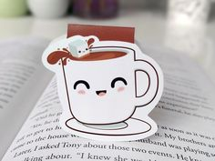 Cute Cup of Coffee Magnetic Bookmark by BeedooTO on Etsy https://www.etsy.com/uk/listing/274911620/cute-cup-of-coffee-magnetic-bookmark