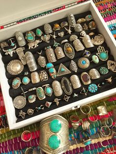 Bohemian Style Vintage Ring Collection